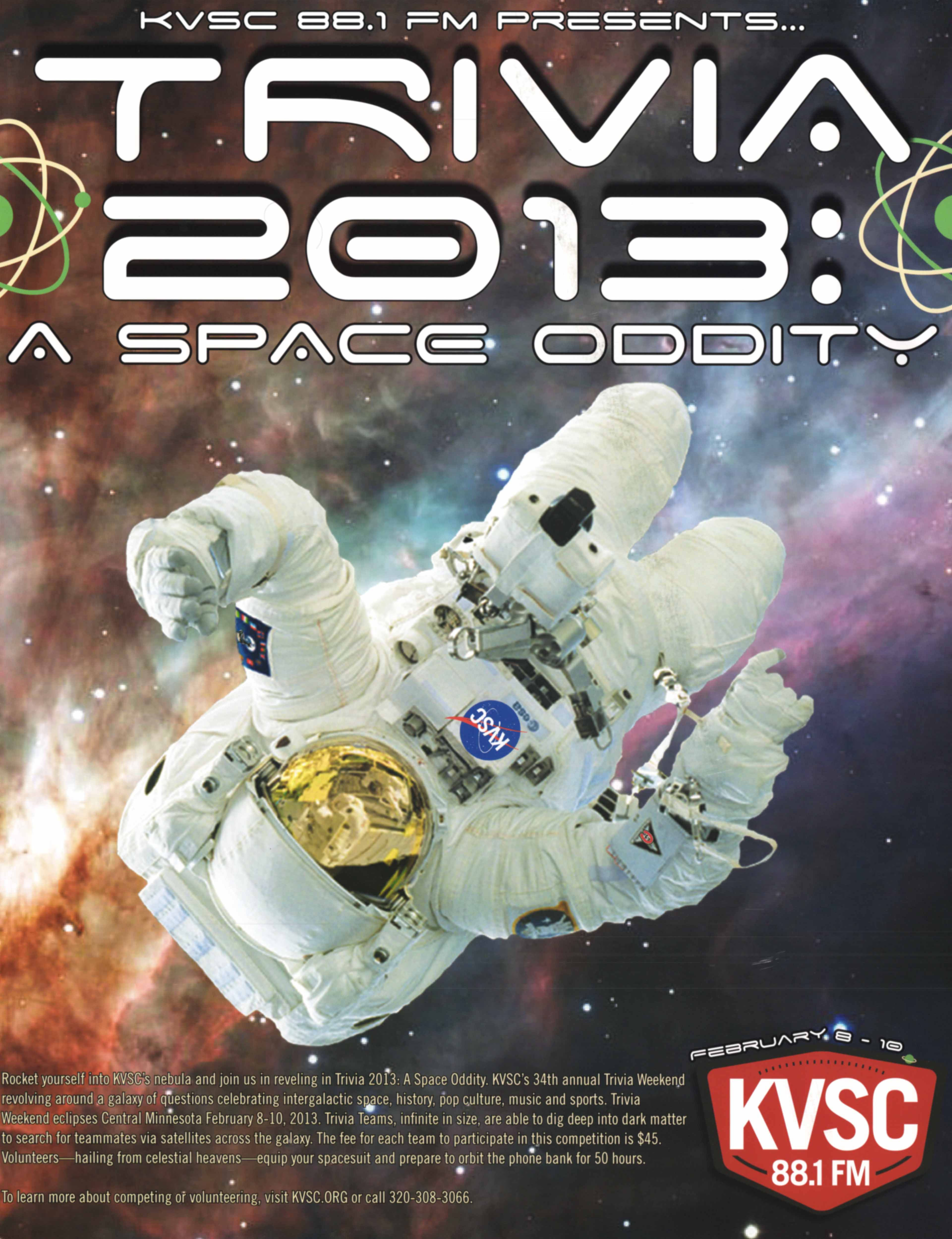 """2013 – """"Trivia 2013: A Space Oddity"""" – Goat Posse Productions"""